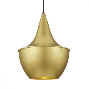 Baselite brushed gold metallic decorative light