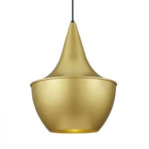 Baselite brushed gold metallic decorative light